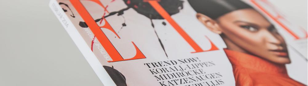 <h2>ELLE</h2>Monatszeitschrift mit Beiheftern/Warenproben/Beilagen.