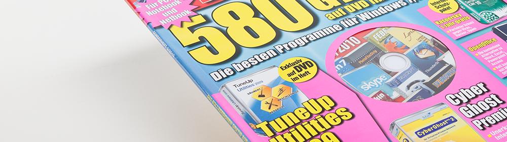 <h2>Computer Bild Sonderheft</h2> Magazin mit CD Inline auf Bogenteil oder Umschlag aufgespendet.