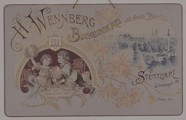 Firmenschild um 1900